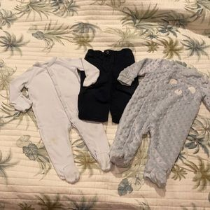 4/$20 3-6 month footie pajama & 9 month pants Polo